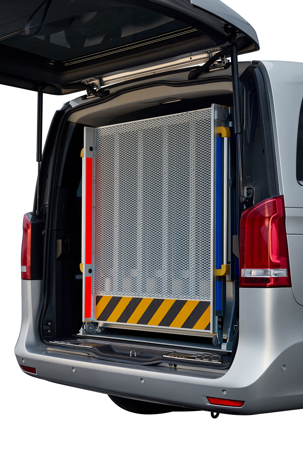 rear mounted wheelchair lift for vehicles